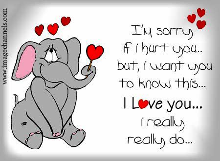 I'm Sorry If I Hurt You But I Want You To Know This I