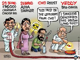 Indian Corruptions Funny Diwali Cartoon Image