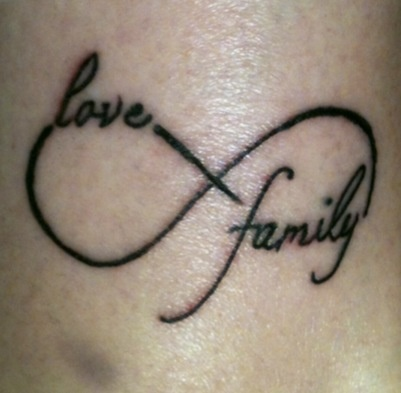 Infinity Family Love Tattoo