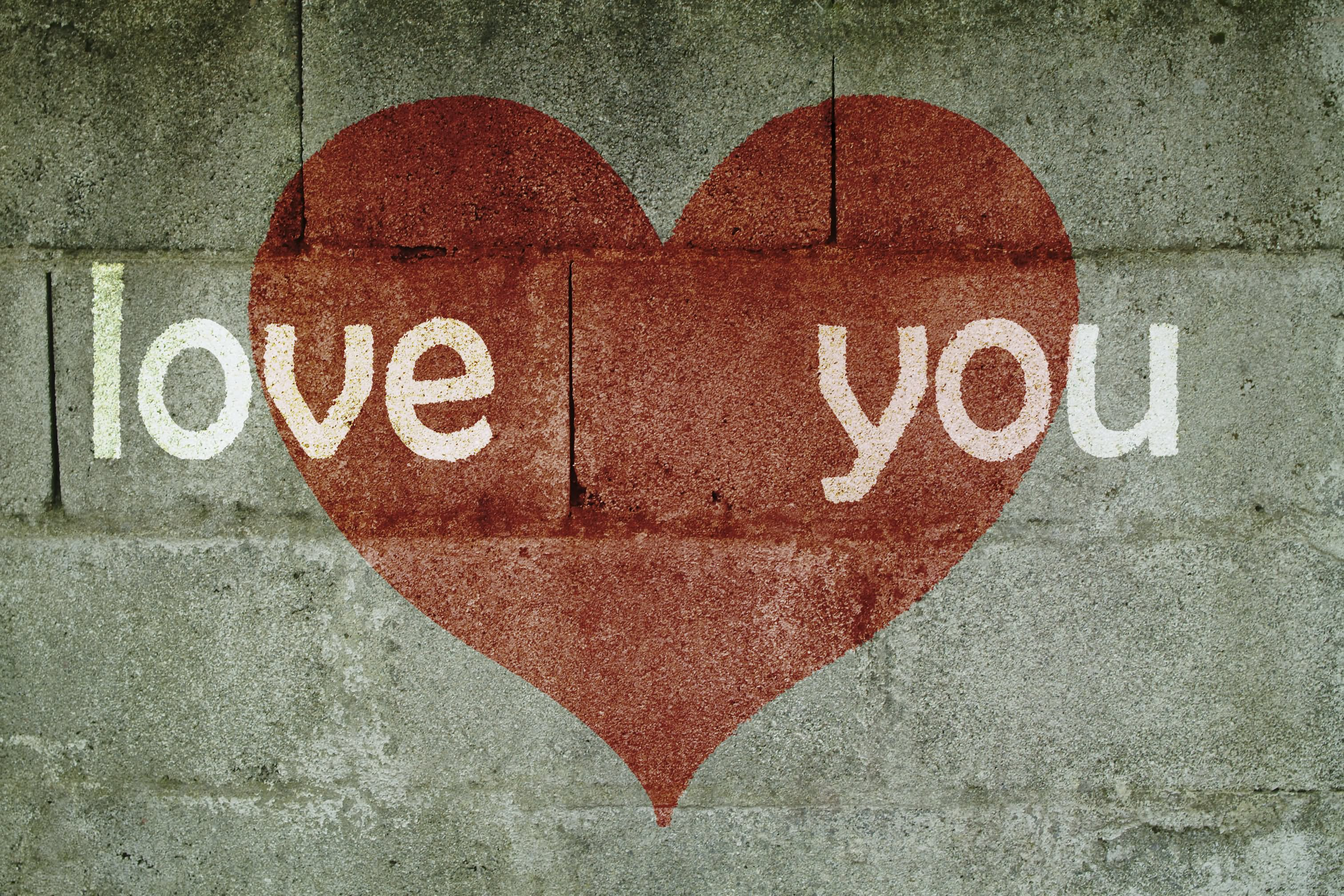 Hd wallpaper i love you - Love You On Wall Hd Wallpaper