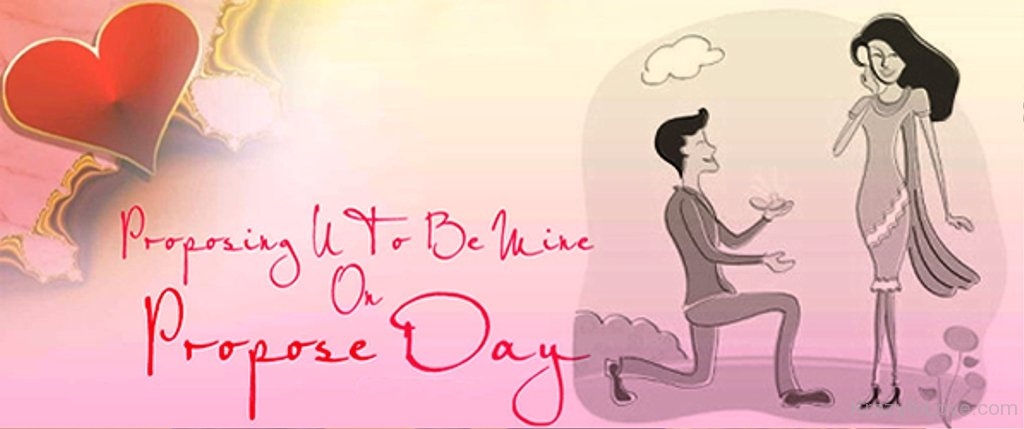 Proposing You To Be Mine On Propose Day Facebook Cover Picture
