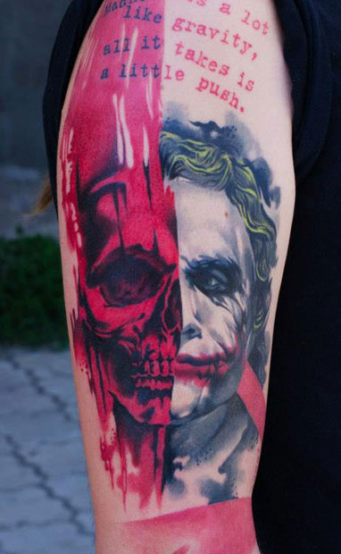 17 joker tattoo designs ideas pictures and images for The joker tattoo