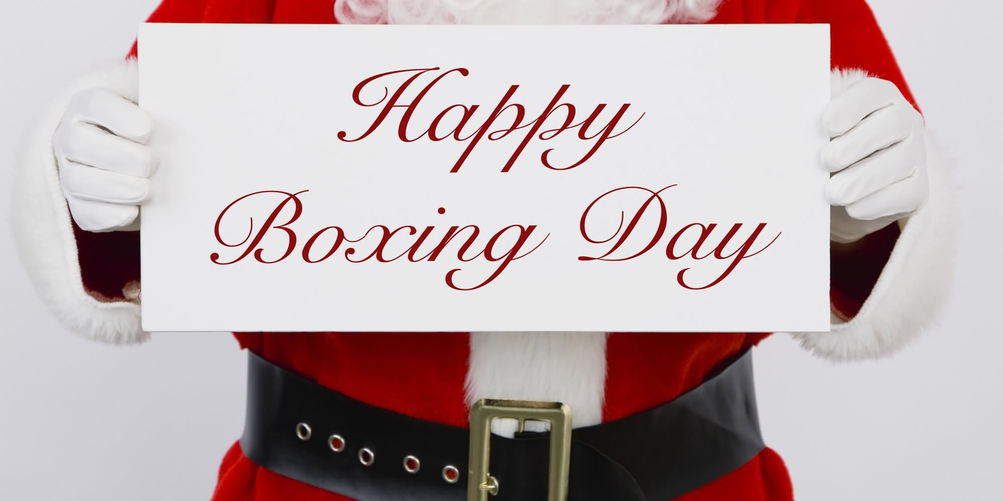 Santa Clause Wishing You Happy Boxing Day
