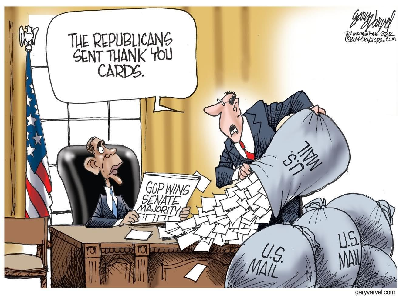 The republicans sent thank you card funny obama cartoon sciox Image collections