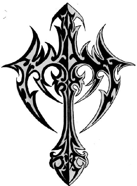 8 Tribal Cross Tattoo Designs And Stencils