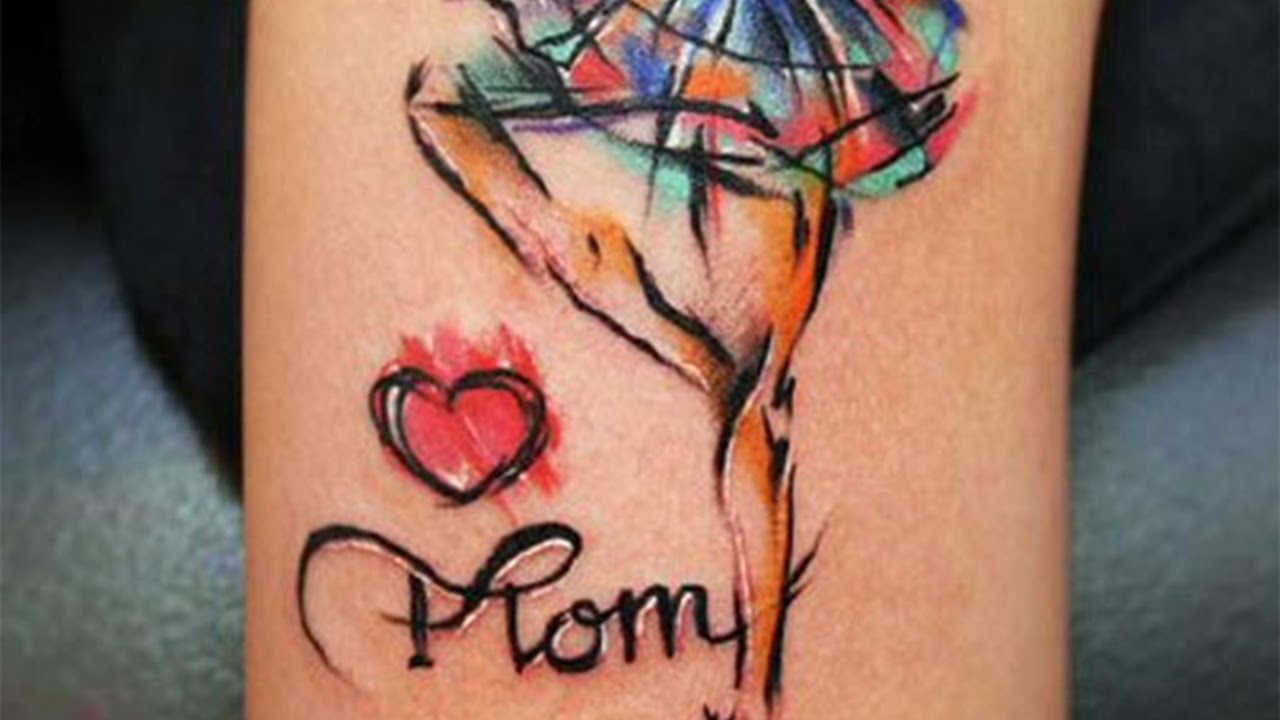 27 nice daughter tattoo designs images and pictures watercolor heart and dancing girl leg with mom word tattoo design for daughter biocorpaavc Image collections