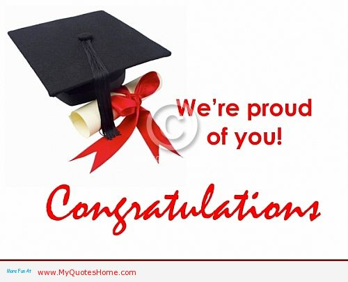 we re proud of you congratulations on graduation