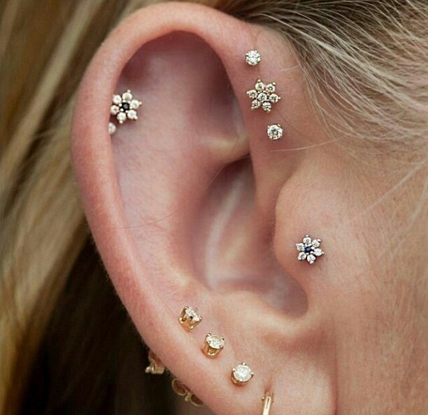 beautiful triple forward helix piercing. Black Bedroom Furniture Sets. Home Design Ideas