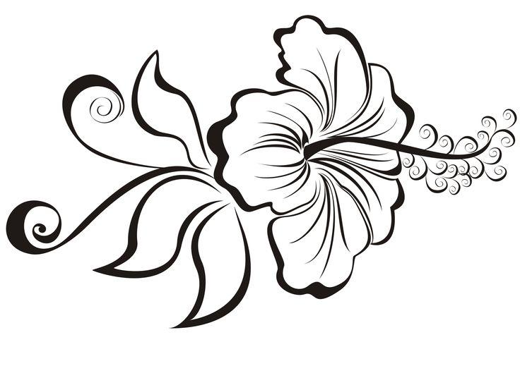 Line Art Flower Stencil Designs : New hibiscus tattoo designs and ideas