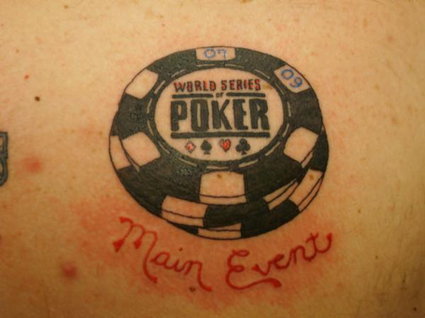 Poker chip tattoo designs