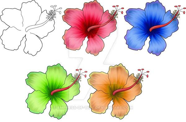 Hibiscus Flower Tattoo Flash - Best Tattoo Ideas