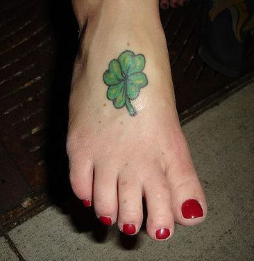 20 simple leaf tattoos for Shamrock foot tattoo