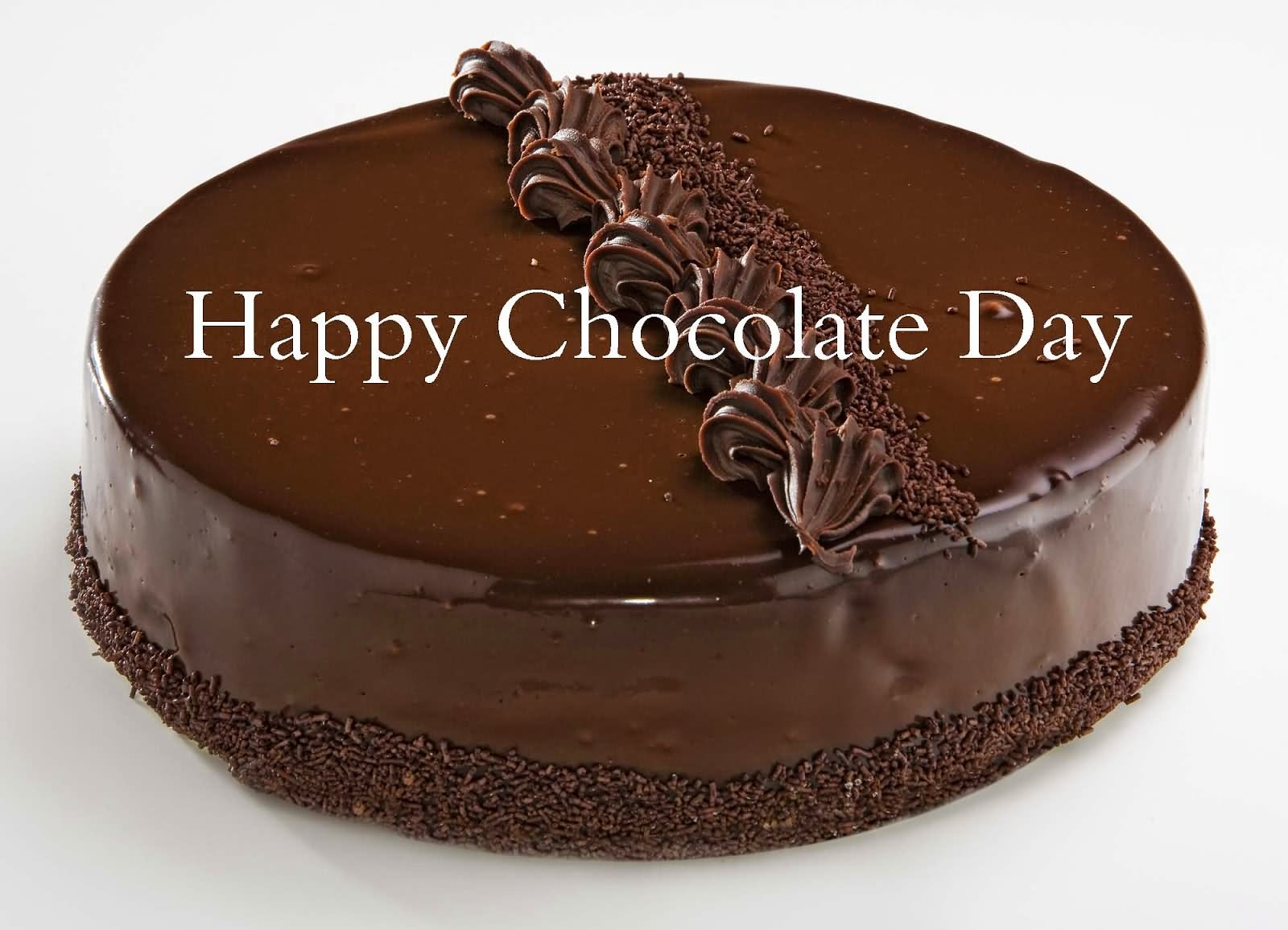 Happy Chocolate Day Chocolate Cake Picture