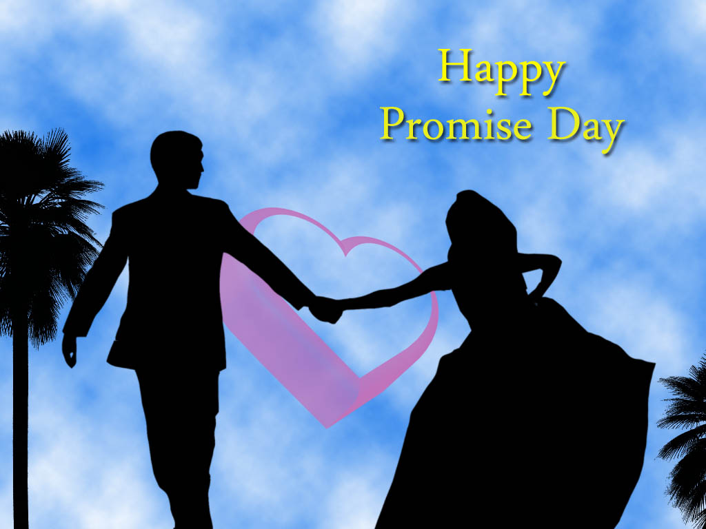 Promise Day Couple Wallpaper