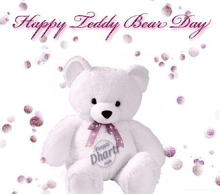 happy teddy bear day wishes image