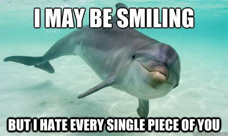 """....."" - Victoric Pise I-May-Be-Smiling-Funny-Dolphin-Meme"
