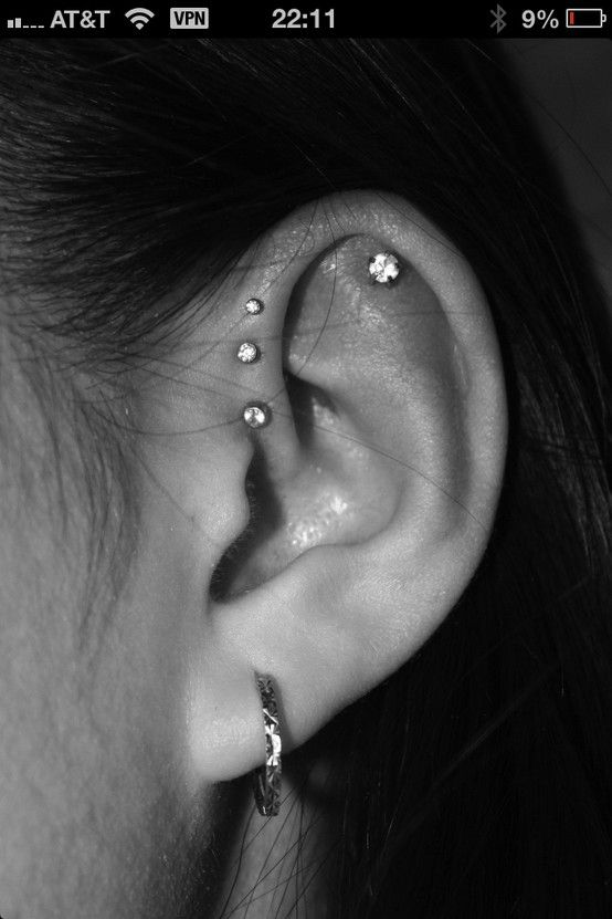 18 Best Helix Piercing Images And Pictures Ear Piercings Triple Helix