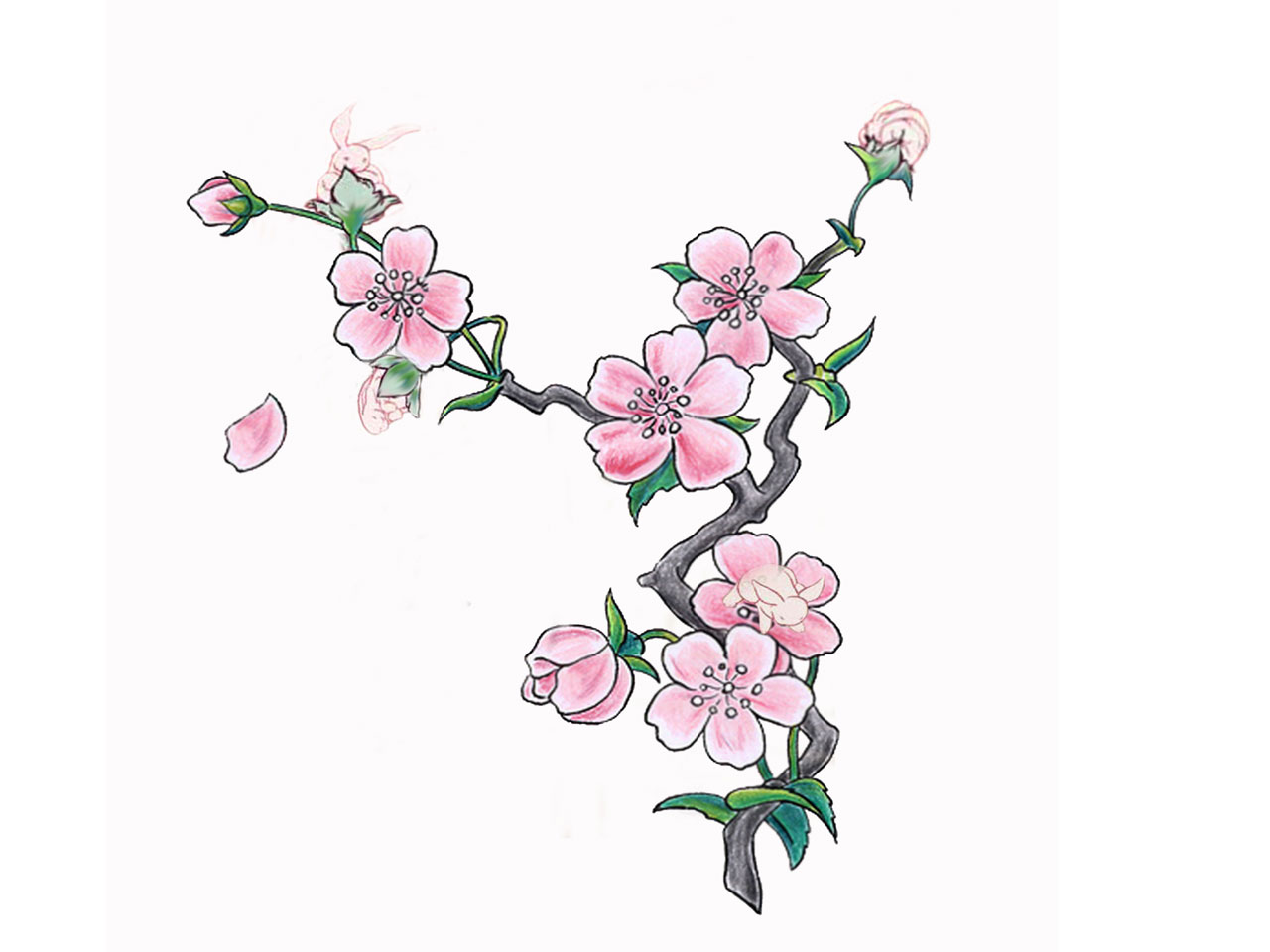 5 New Cherry Blossom Tattoo Designs