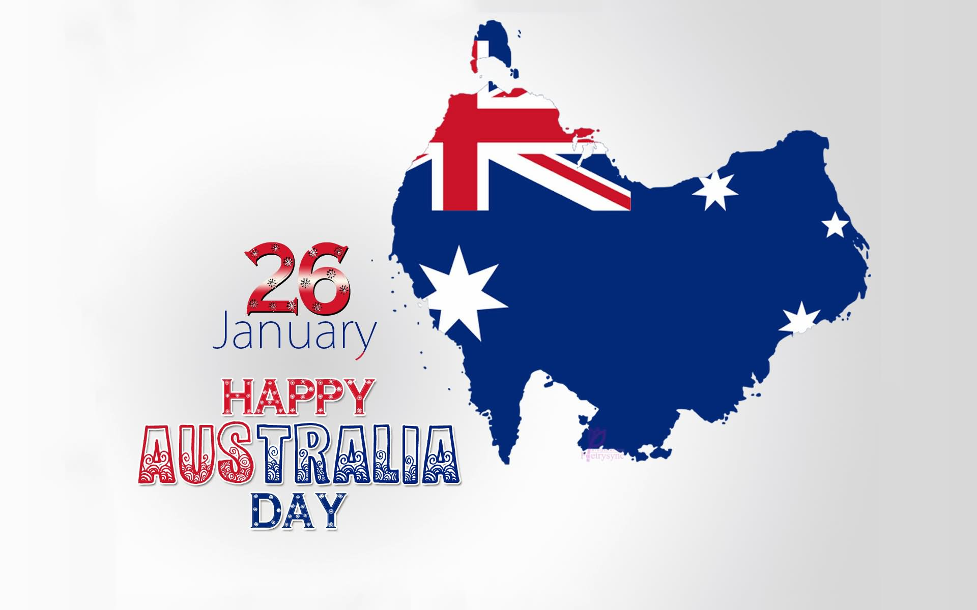 australia day australian flag on beach