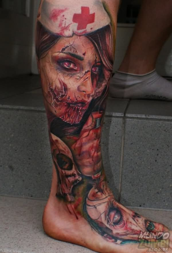 24 scary tattoo designs images and picture gallery. Black Bedroom Furniture Sets. Home Design Ideas