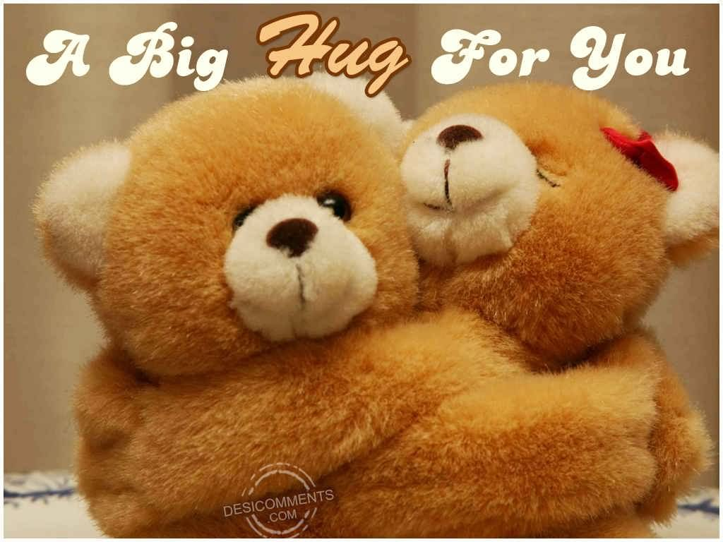 to say you are special hugging teddy bears animated hug day picture