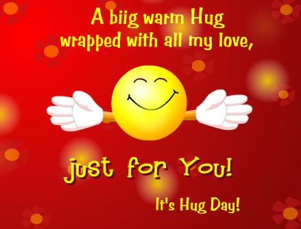 A big warm hug wrapped with all my love just for you its hug day m4hsunfo