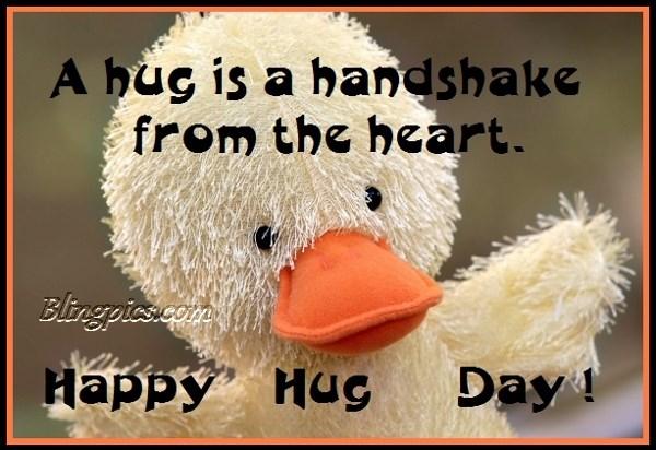 A Hug Is A Handshake From The Heart Happy Hug Day