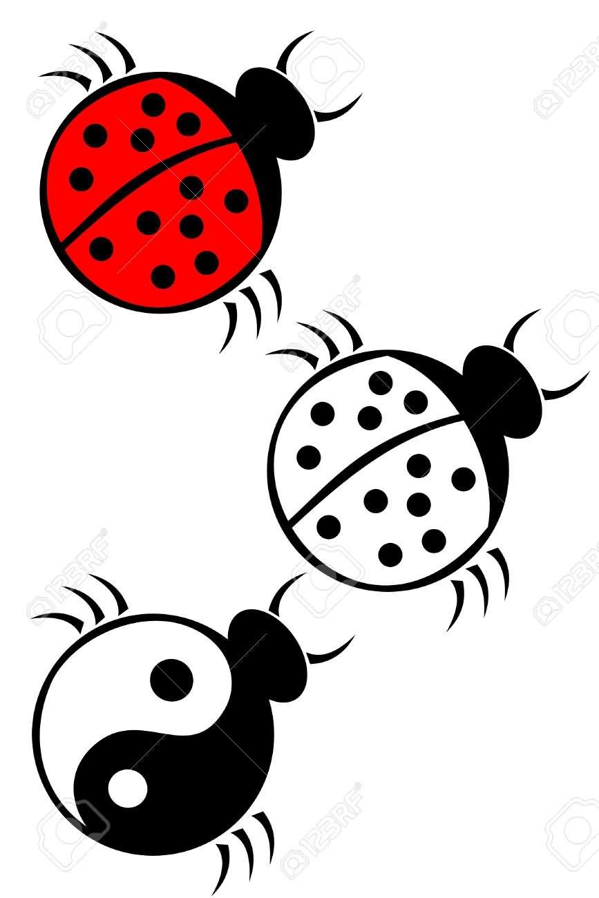 6 cute ladybird tattoo design ideas