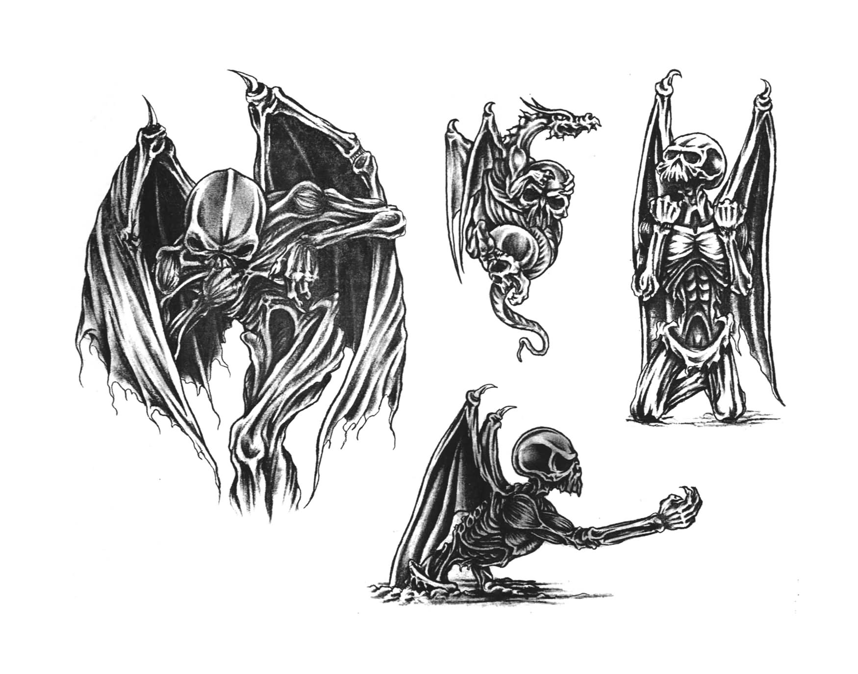5 best demon tattoo designs and samples - Free evil angel pictures ...