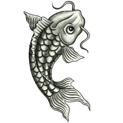 9 fantastic fish tattoo designs and ideas for Koi fish tattoo black and grey