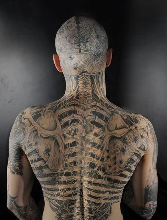 17 incredible skeleton tattoo art images gallery, Skeleton