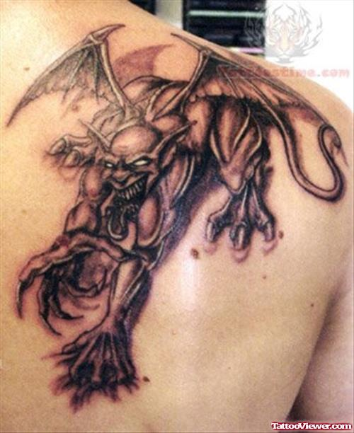 10 fantastic demon tattoo ideas images and pictures. Black Bedroom Furniture Sets. Home Design Ideas