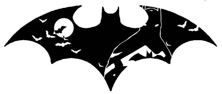 Black Flying Bats In Batman Logo Tattoo Stencil By Abby