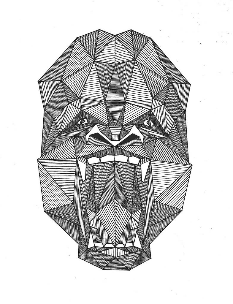 Gallery For gt Gorilla Roaring Stencil