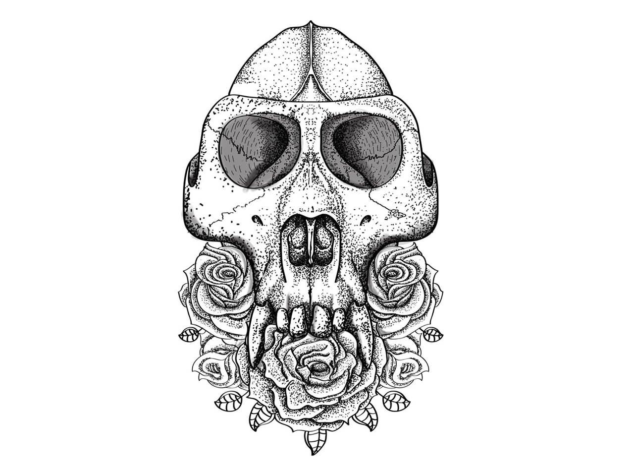 Gallery For gt Tribal Gorilla Tattoo Designs