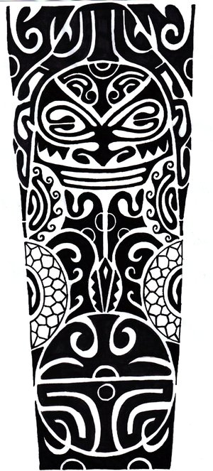 funny maori sun tattoo design by shepush. Black Bedroom Furniture Sets. Home Design Ideas