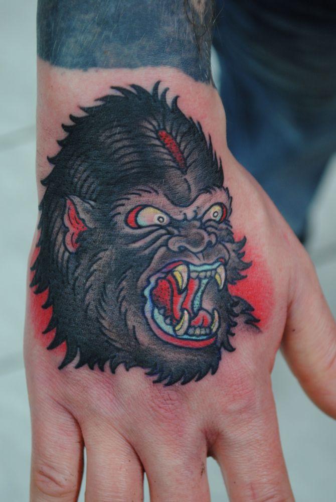 gorilla tattoos. Black Bedroom Furniture Sets. Home Design Ideas