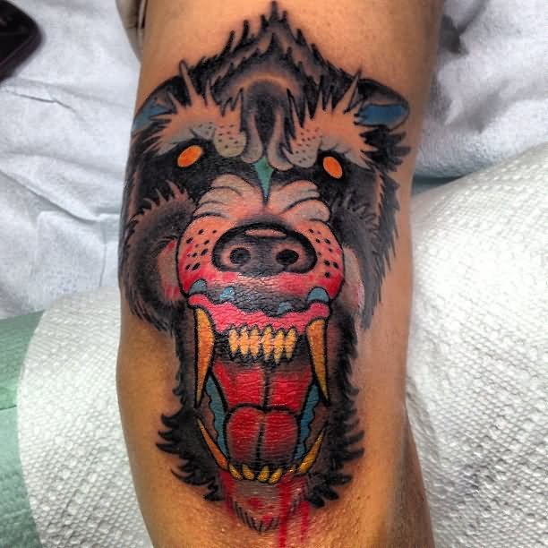 13 baboon tattoo images and pictures for Monkey face tattoo
