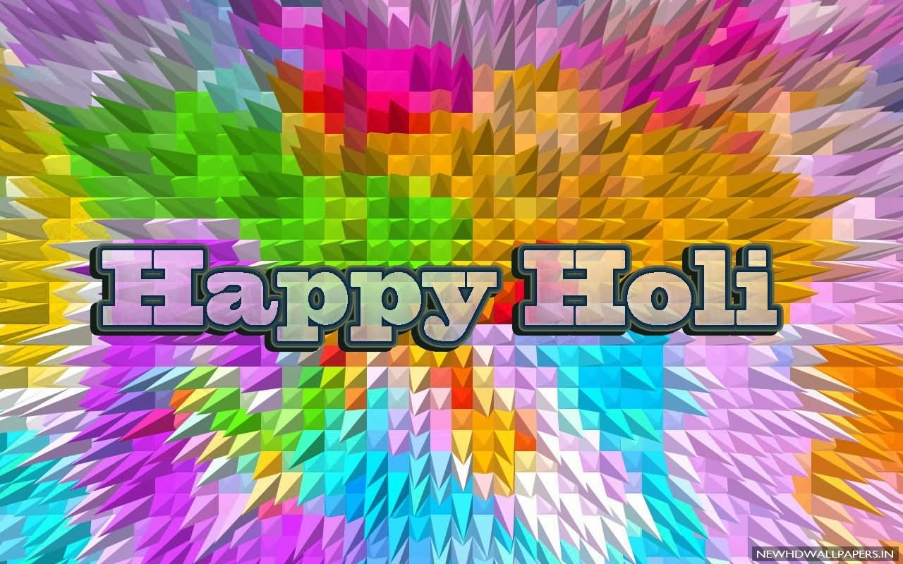 happy holi 3d background hd wallpaper