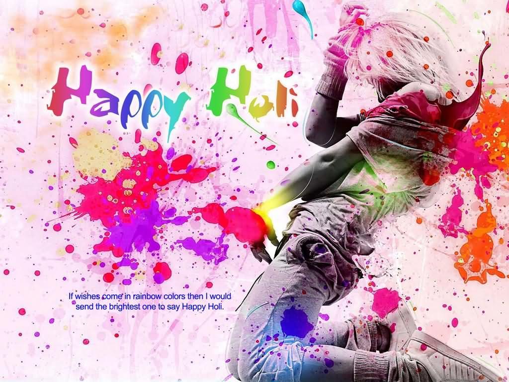 happy holi colorful hd wallpaper
