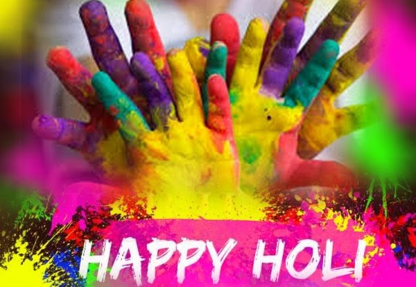 Happy Holi Colorful Hands Picture