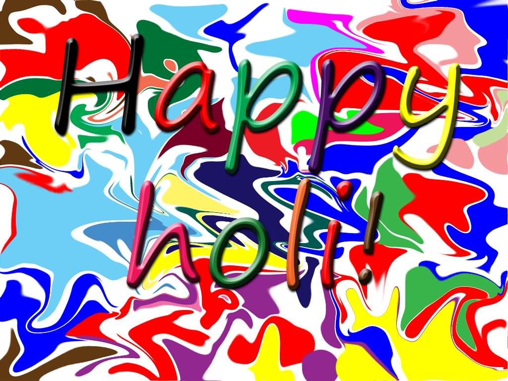 Happy Holi Colors Background Picture