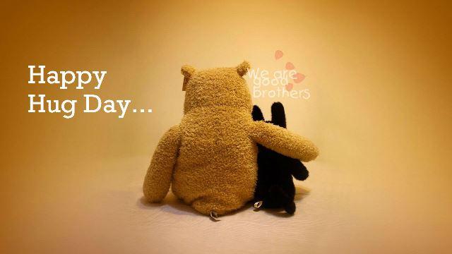 Happy hug day greetings m4hsunfo