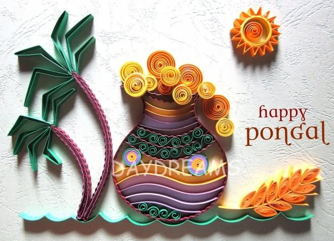 Happy pongal awesome greeting card m4hsunfo