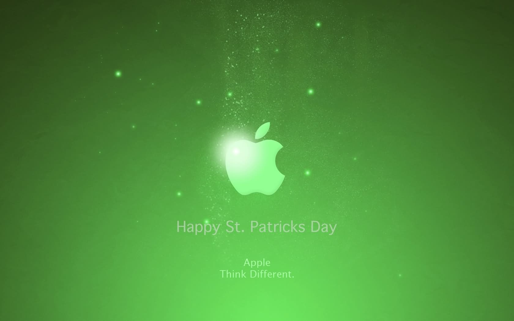Happy Saint Patrick's Day Apple Logo Wallpaper