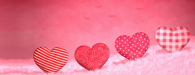 Happy Valentines Day Hearts Facebook Cover Picture