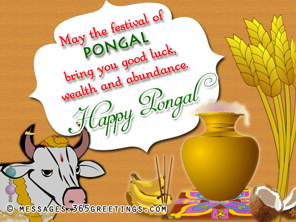 Wish you a happy pongal greetings may the festival of pongal bring you good luck wealth and abundance happy pongal m4hsunfo