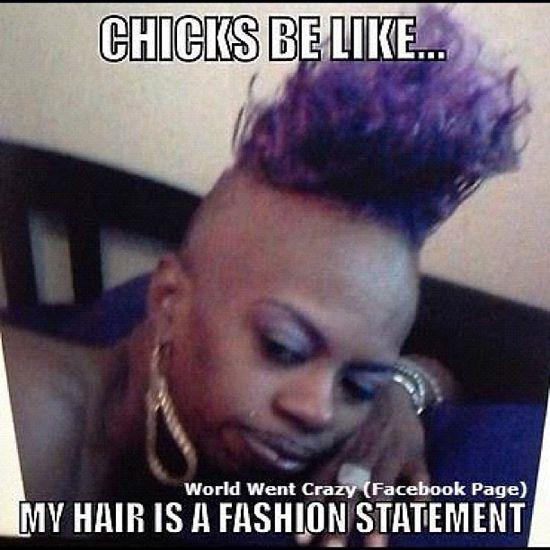 Funny Meme Hair : I got my hair did don t it look fly funny meme