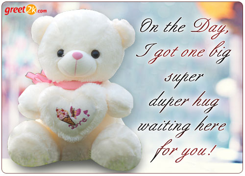55 happy hug day greeting card pictures and images on the day i got one big super duper hug waiting here for you happy hug day m4hsunfo