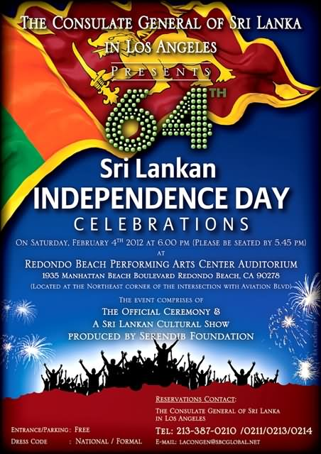 sri lanka s independence day Sri lanka's 52nd independence day: a pall of gloom hangs over the ruling elites by wije dias 9 february 2000 some events say a great deal about a political situation.